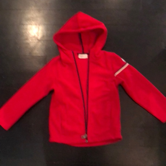 5d5f46bc6 Moncler kids red hooded zip up jacket size 5